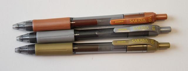 Zebra Sarasa 1.0 Metallic Gel Pens @ZebraPen @ZebraPenUK 3