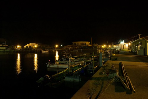 A fishing port in Iki