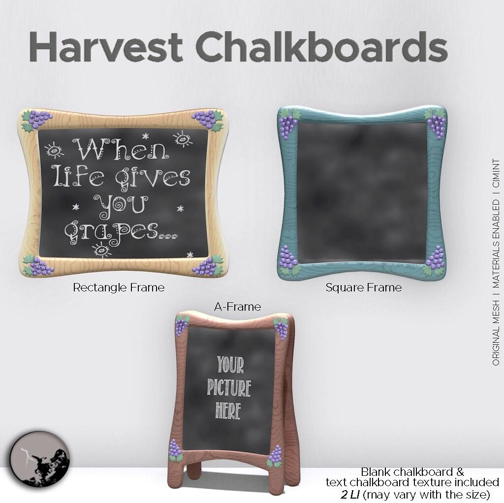 Harvest Chalkboards @ TCF Stories- Sept 18