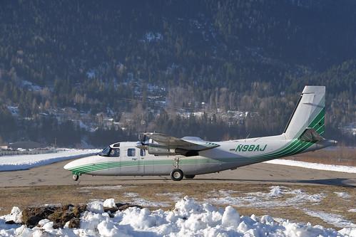 rockwellinternational690bturbocommander n98aj cznl nelson britishcolumbia turboprop aircraft aviation