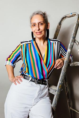 Marie-josé Ourtilane, Leitung Project Space Festival anlässlich der Pressekonferenz des Project Space Festivals im ACUDMACHTNEU Veteranenstraße 21, 10119 Berlin Mitte