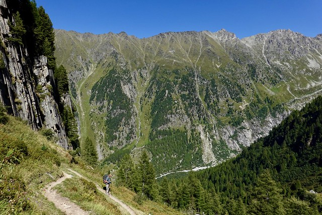 Down to the Chalet du Glacier (and across to the Fenestre trail, hell no)