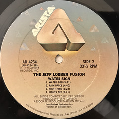 THE JEFF LORBER FUSION:WATER SIGN(LABEL SIDE-B)