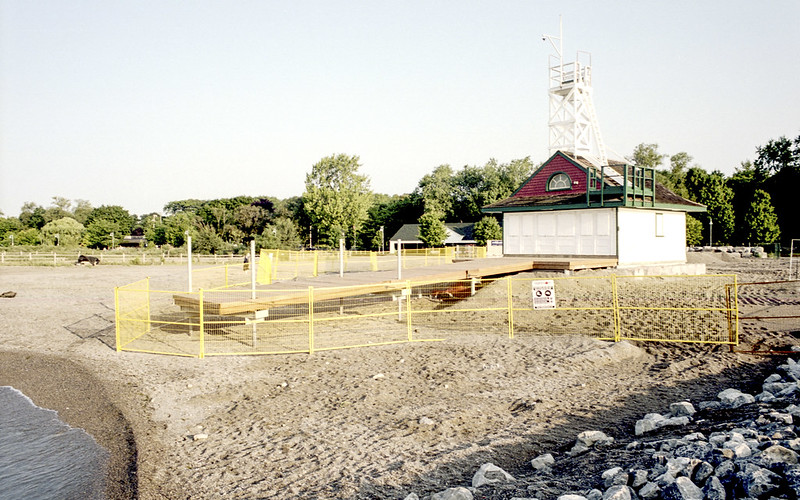 Leuty Beach Lifeguard Station Flood Protection Work