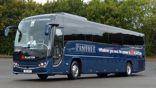 YX17 OGZ 'Plaxton', Demonstrator. Volvo B8R / Plaxton Panther on Dennis Basford's railsroadsrunways.blogspot.co.uk'