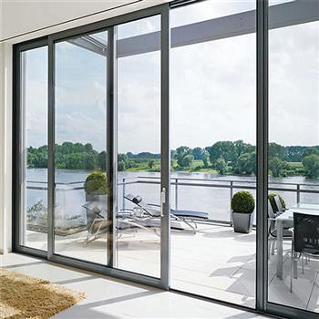 3 panels sliding aluminium door