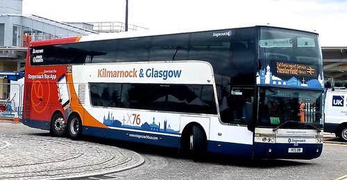 VCS 391 'Stagecoach West Scotland' No. 50201. 'Kilmarnock & Glasgow X76'.  Van Hool TD 927 Astromega /2 on Dennis Basford's railsroadsrunways.blogspot.co.uk'