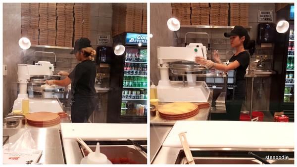 Za Pizza Bistro dough machine