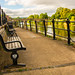 Riverside Seating Along The River Severn At Bewdley
