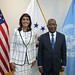August 22, 2018 - 1:12pm - Ambassador Haley meets with Côte d'Ivoire's Permanent Representative to the United Nations, Ambassador Kacou Houadja Léon Adom, August 22, 2018