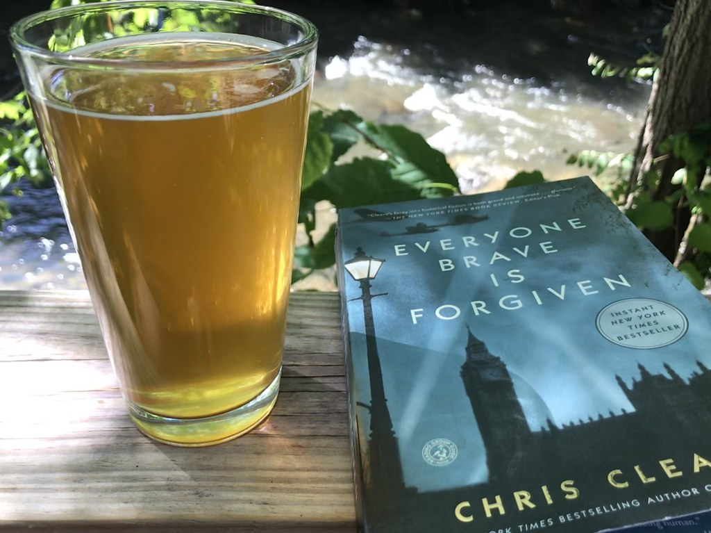 beer and a book at Frog Level
