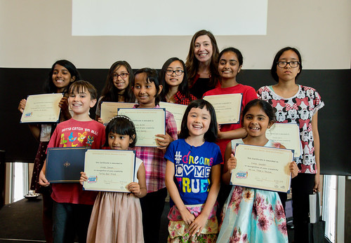 Winners of the Graphic Novel Contest Award Ceremony with Jill Borne