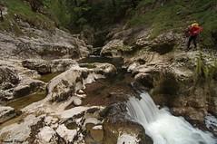 Guy Photographiant le Canyon De Malvaux - Jura