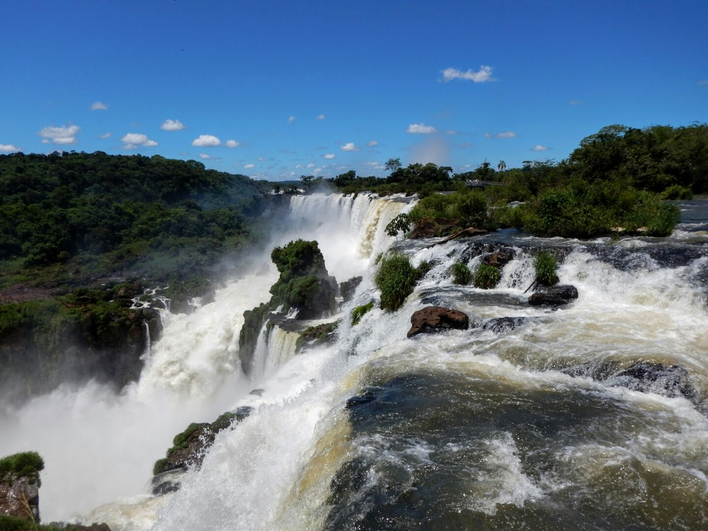 Iguazu falls from the Argentinan side