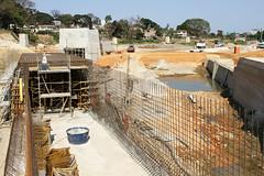 Prefeito visita obras de prevenção de enchentes nas bacias Túnel/Camarões