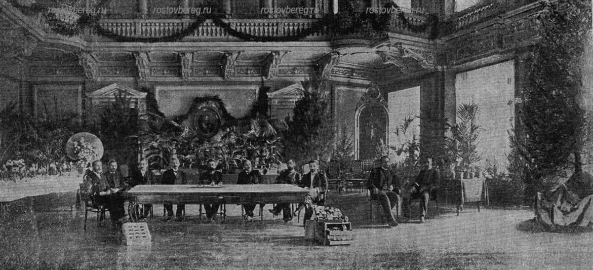 Собрание Общества Садоводства в зале Городской думы. 1903