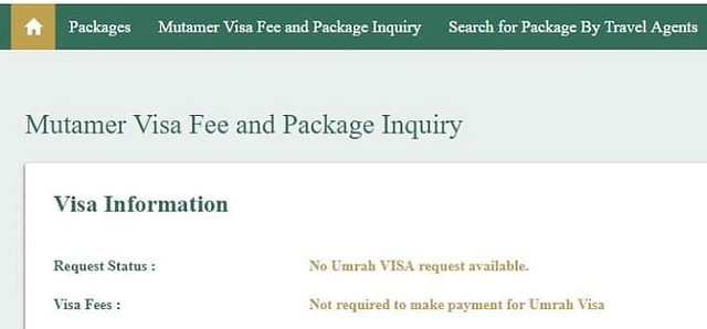 3238 Check Online if you need to pay SR 2,000 as Umrah Visa Fee 02