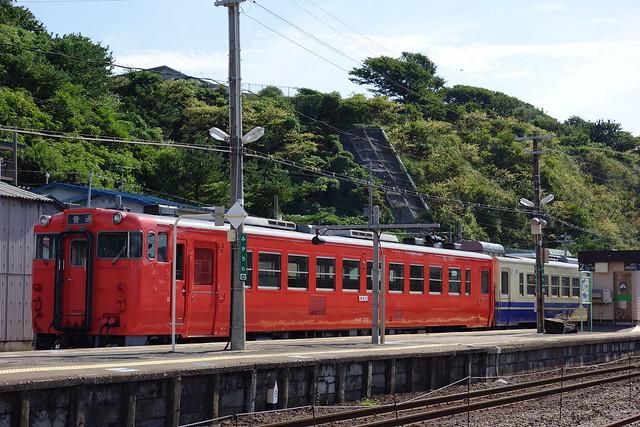 キハ48-1520 深浦駅