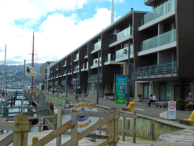 The new apartments on Clyde Quay Wharf has brought more people to the waterfront and continues the redevelopment of the Wellington Waterfront