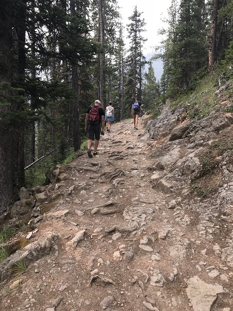 Hiking up Sulphur Mountain, Banff