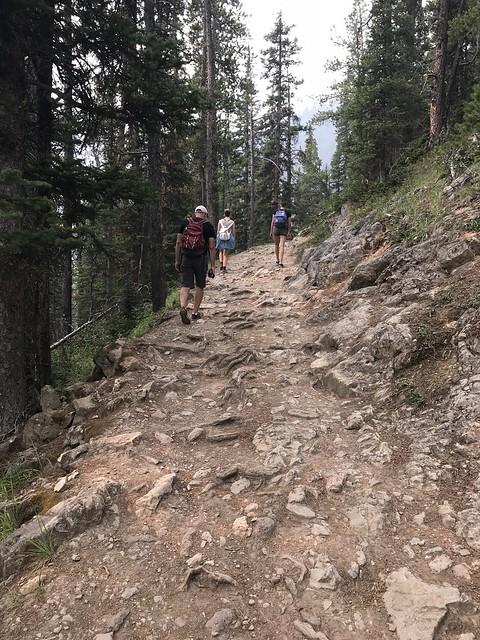 Hiking up Sulphur Mountain, Banff