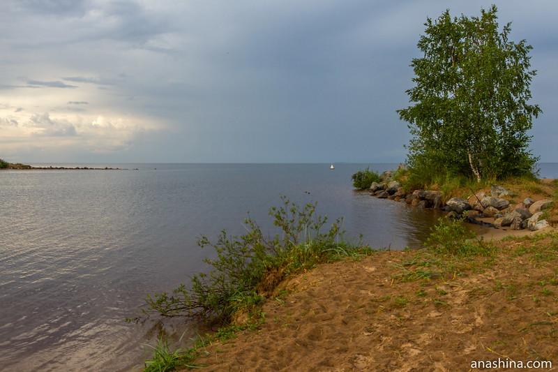 Место впадения реки Вуоксы в Ладожское озеро
