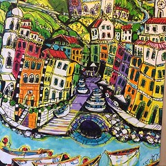 A lot of interest in cinque terra paintings When we get an image that has particular interest we do an addition of prints 50 cost $35 at staples weincouage people to spend aliittle more money and buy originals but they by the machine prints! #