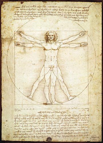 The Vitrucian man by Da Vinci