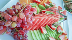 A variety of freshly prepared and arranged fruits