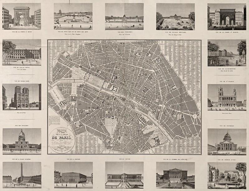 Nouveau plan de la ville de Paris divisé en douze arrondissements (1828)