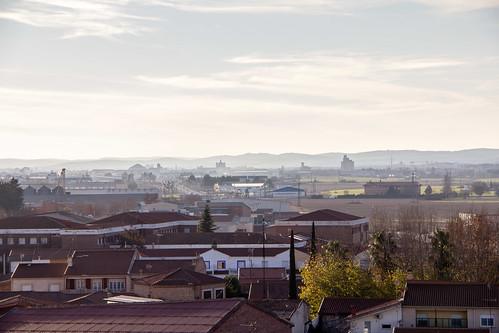 vista de Bolaños de Calatrava desde Castillo Doña Berenguela Ciudad Real 01