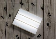 Blank lightbox sign