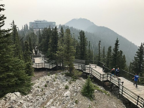Observation area at the top of Sulphur Mountain