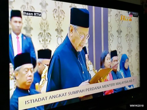 Tun M Swearing-in