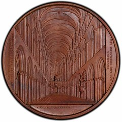 Linear perspective cathedral medal