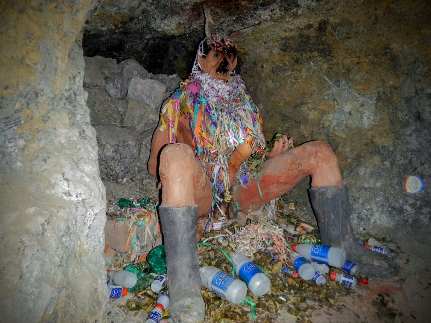 Statue of Dio de Pachamama in the Potosí mines
