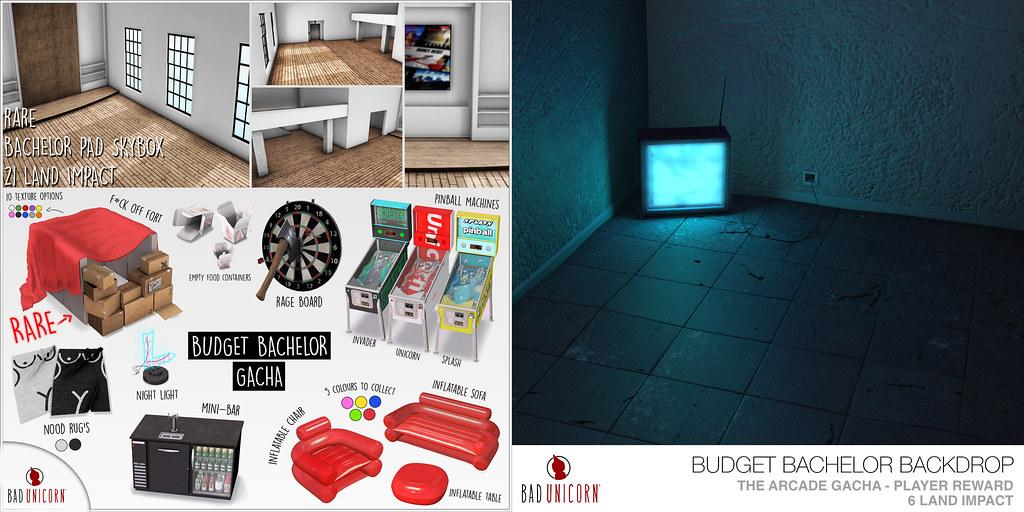 Budget Bachelor Gacha @ The Arcade