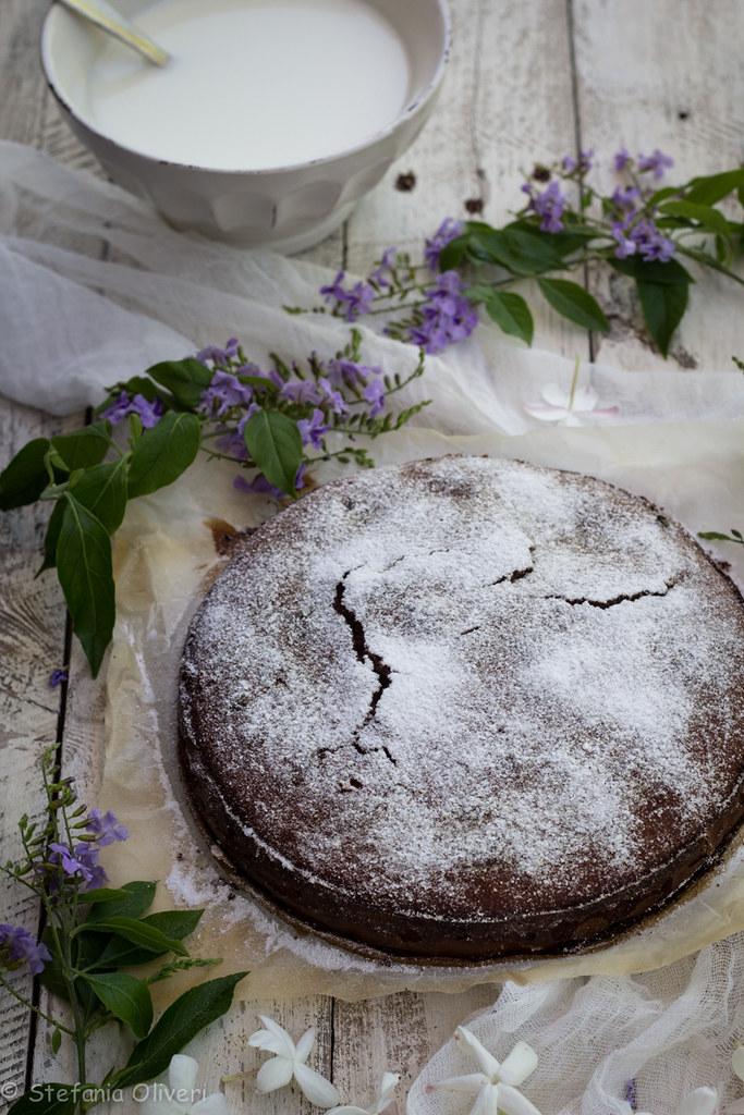 Torta di castagne e mandorle senza glutine-9693