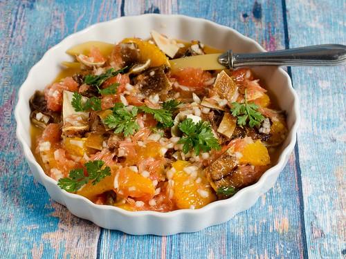 Salat mit knusprigen Schweineohren – Salada de orelhe de porco (2)