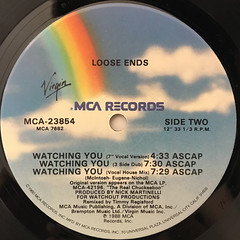LOOSE ENDS:WATCHING YOU(LABEL SIDE-B)