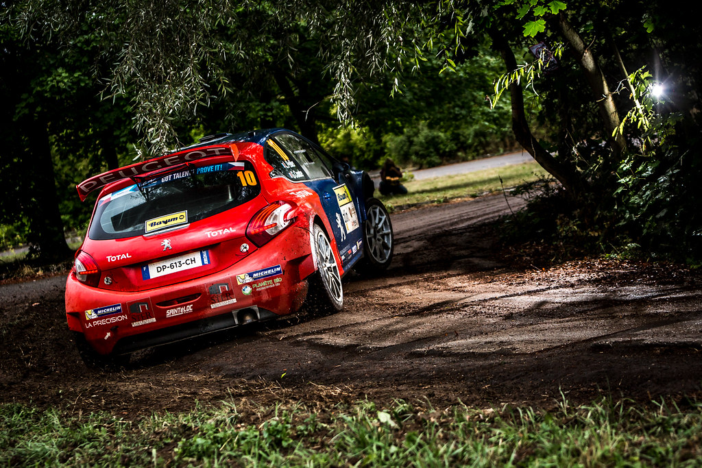 10 Pellier Laurent, Combe Geoffrey, FRA/FRA, Peugeot Rally Academy, Peugeot 208 T16 R5, Action during the 2018 European Rally Championship ERC Barum rally,  from August 24 to 26, at Zlin, Czech Republic - Photo Thomas Fenetre / DPPI