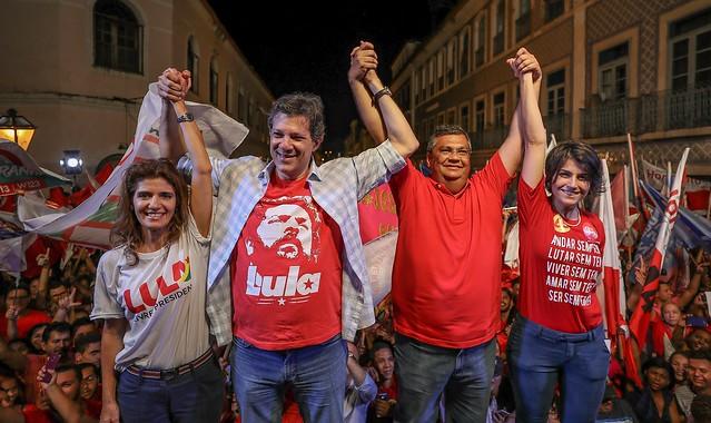A presença dos candidatos do PT/PC do B levou às ruas milhares de pessoas de vários estados do nordeste - Créditos: Ricardo Stuckert
