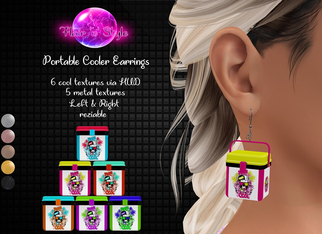 {Flair 'n' Style} Portable Cooler Earrings