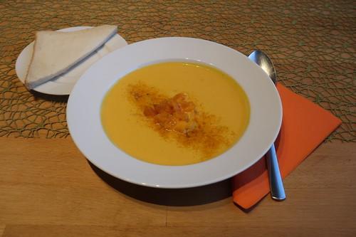 Amerikanische Kürbissuppe (mein zweiter Teller)