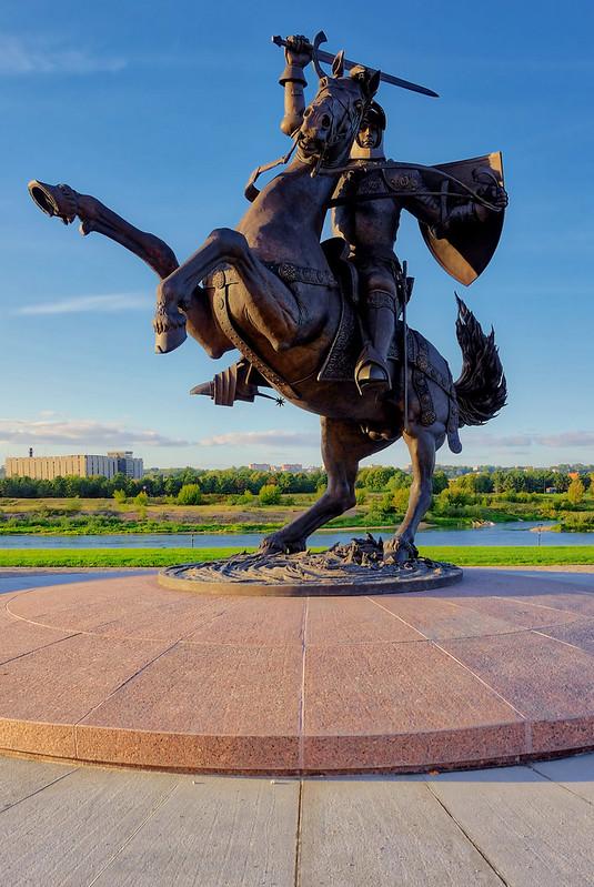 Statue of Vytis, Kaunas, Lithuania