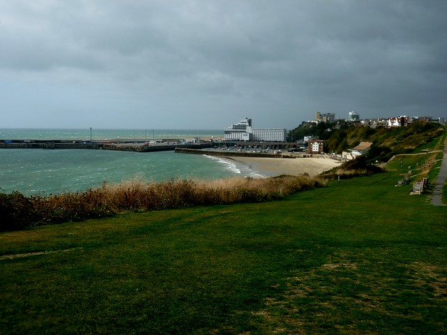 Folkestone Harbour from East Cliff.