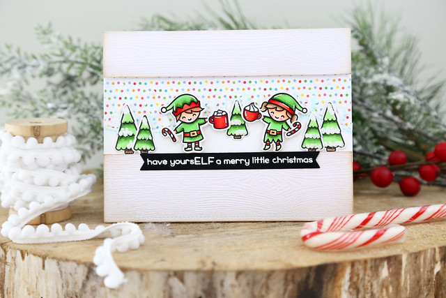 A rainbow Christmas (Lawn Fawn inspiration week)