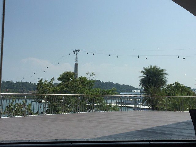 Harbour Front and Sentosa Island, cable car
