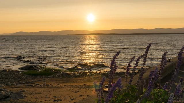 Sunset - Coucher de soleil, L'Islet sur Mer, P.Q., Canada - 7766