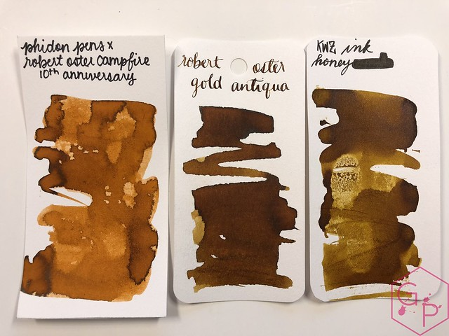 Robert Oster Campfire Ink Review for Phidon Pens 10th Anniversary 3